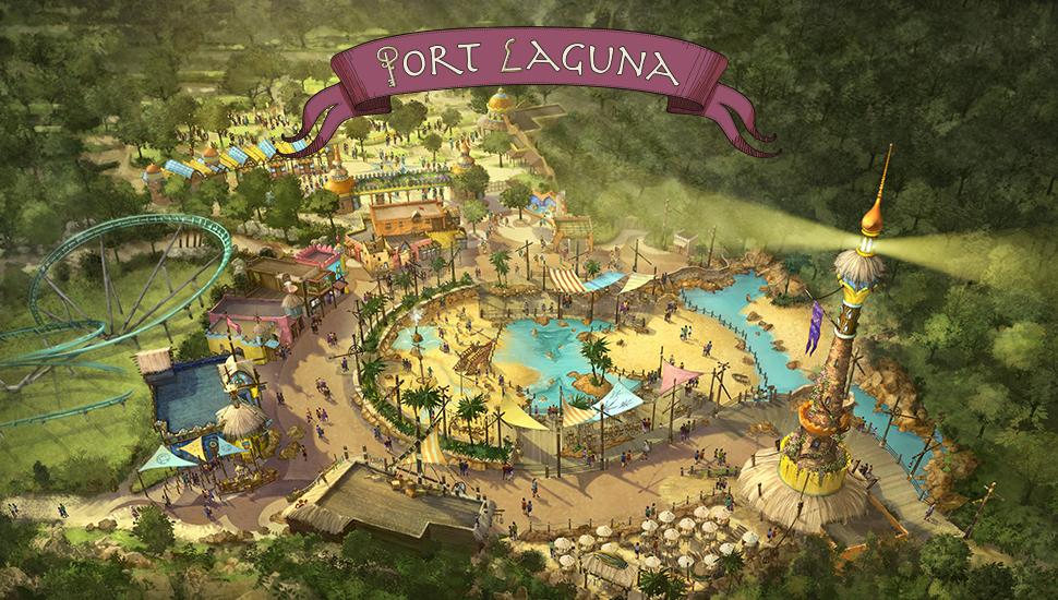 Schets Port Laguna Toverland
