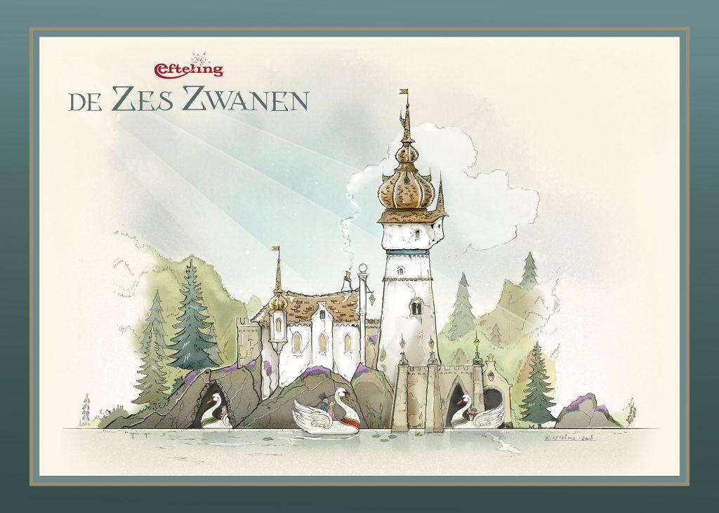Efteling zes zwanen
